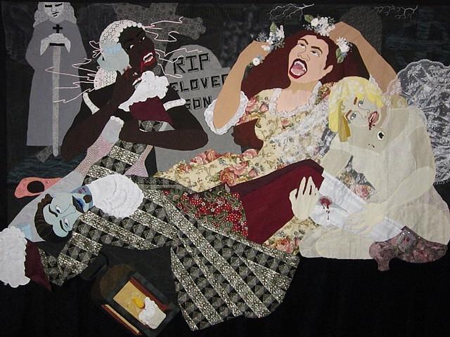 Dawn Williams Boyd, Three Marys: Vampire Brides 2013, fabric, beads, sequins