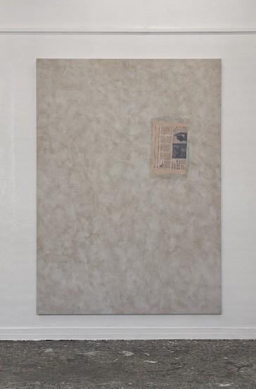 Are Blytt, Abstraktionen des B�cherregales #7 2013, oil and paper on canvas