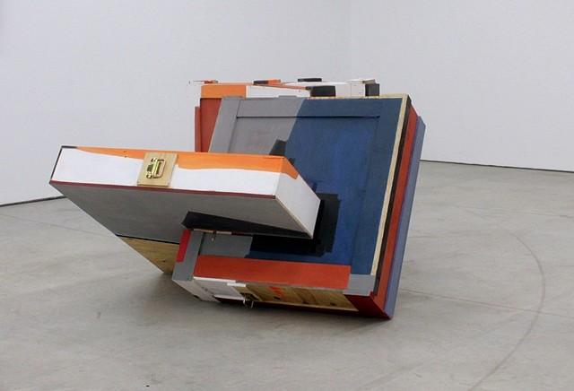 Miren Doiz, Fragile II 2012, sculpture, transport boxes of artwork, acrylic