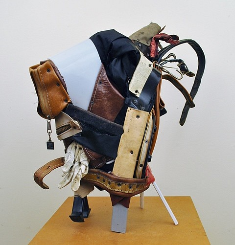 Charles McGill, Goat, Bull, Rooster, Horse 2014, re-assembled golf bag parts