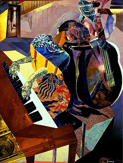 Greg Bray, The Blues Singer 1984, collage