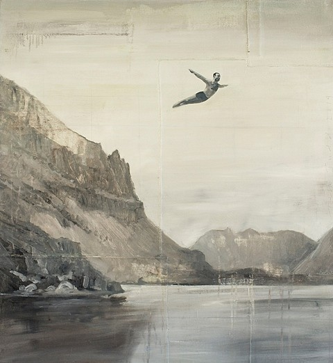 Tom Judd, Misplaced 2014, oil with collage on panel