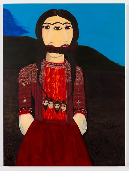 Samira Abbassy, Bound By Her Fate 2013, oil on gesso panel