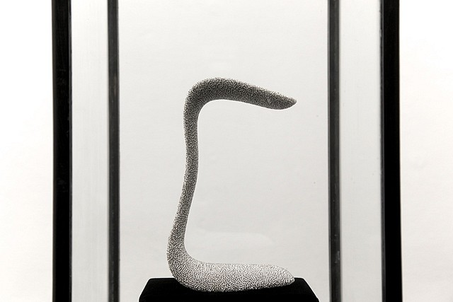 Mai-Thanh Thi Nguyen, Out 2012, vaginal speculum, beads, wood, glasses
