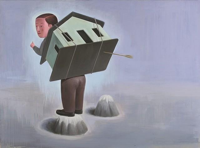 Marcelo Torretta, Like Two Strangers 2007, acrylic on canvas