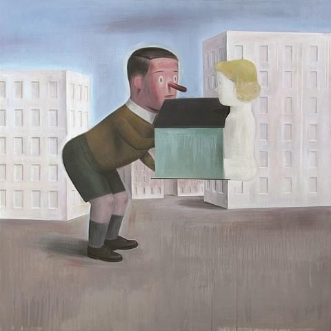 Marcelo Torretta, Unbalance 2008, acrylic on canvas
