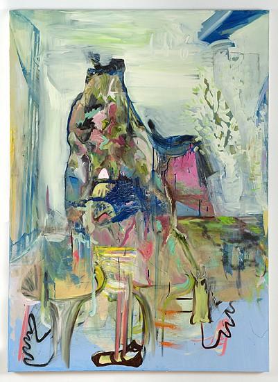 Natasha Doyon, Living Room 2013, oil and acrylic on canvas