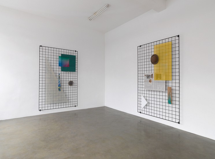 Eva Berendes, Grids 2013, steel, lacquer, mixed media