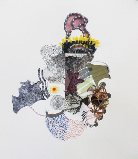 Ajean Ryan, Returning Symbols 2014, mixed media on paper