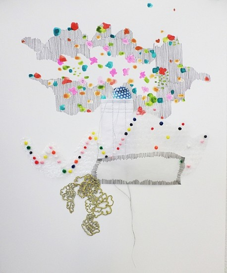 Ajean Ryan, Cloud as Solace 2014, mixed media on paper