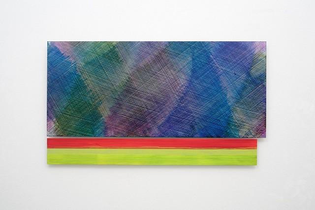 Claudia Desgranges, composite painting # 30 2014, acrylic on aluminum