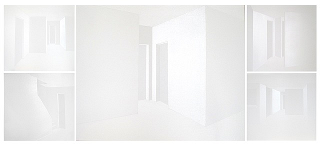 Florencia Levy, 2 Rooms. Brand new, freshly painted. 2012, acrylic and enamel on canvas
