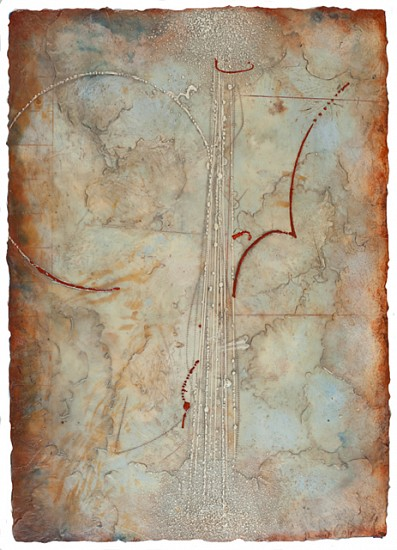 Elise Wagner, Astral Transits 2 2014, encaustic and oil on panel