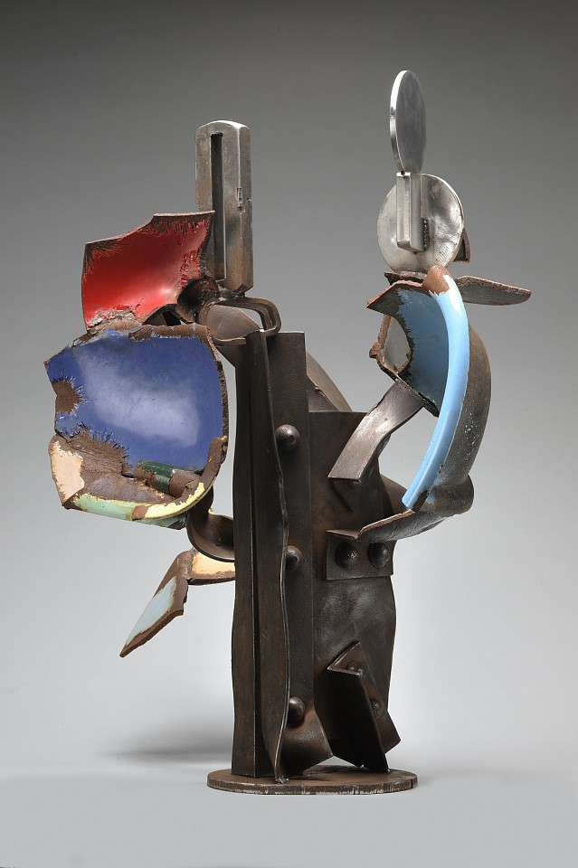Robert Hudson   Rivet , 2012   steel, stainless steel, shards of cast iron and enamel, 37 x 29 x 26 in.