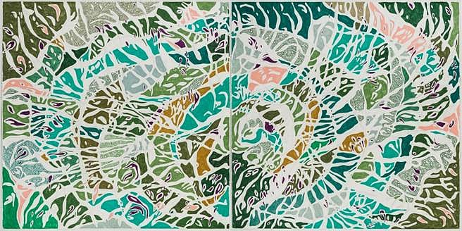 Marcia de Moraes, O Túnel 2015, graphite and colored pencil on paper