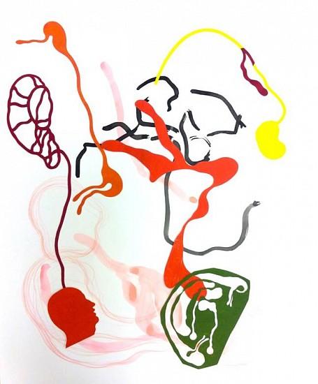 Elin Jakobsdottir, Body Chop 2014, Ink, pencil, gouache, paper-cut