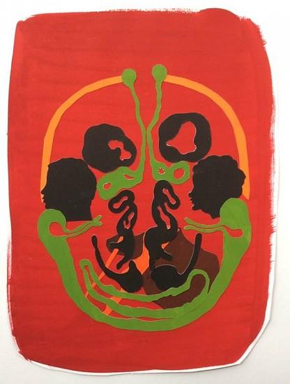 Elin Jakobsdottir, Clown Brain 2015, Gouache, paper-cut
