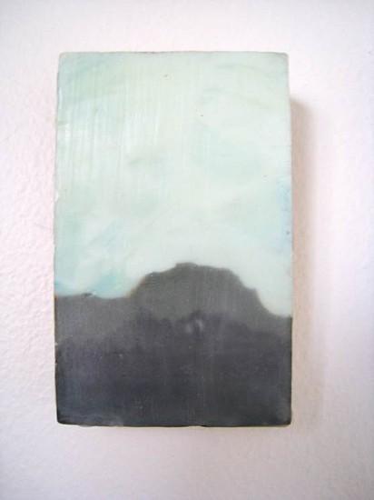 Lori Kent, Landscape Study (Boulder) 2011, encaustic and acrylic on linen panel