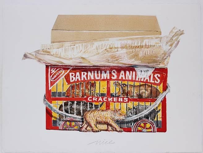 Don Nice, Animal Crackers 2014, watercolor