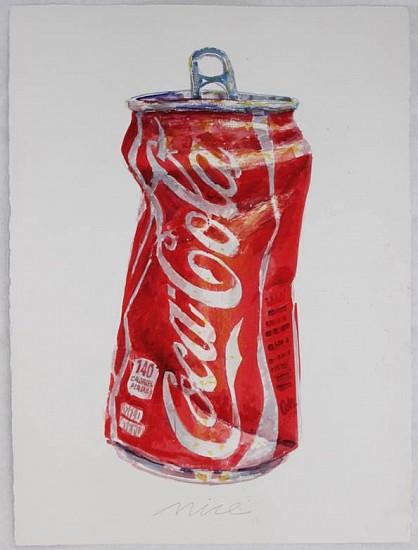 Don Nice, Coke Can 2014, watercolor