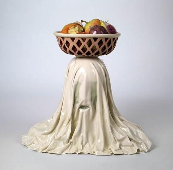 Jessica Marie Stoller, Untitled (balance) 2013, porcelain, glaze, china paint, lustre