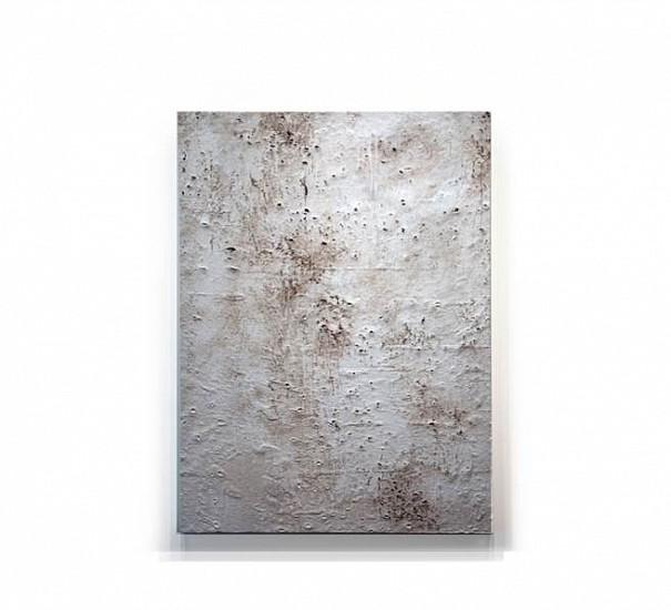 Pablo Rasgado, Av. Corona del Rosal #1 2011, Diesel soot, polycyclic aromatic hydrocarbons, tire and brake wear particles and dirt on canvas