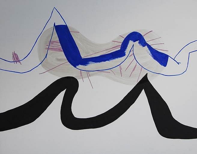 Sonia Almeida, Blue Wavelength 2013, oil on marine plywood