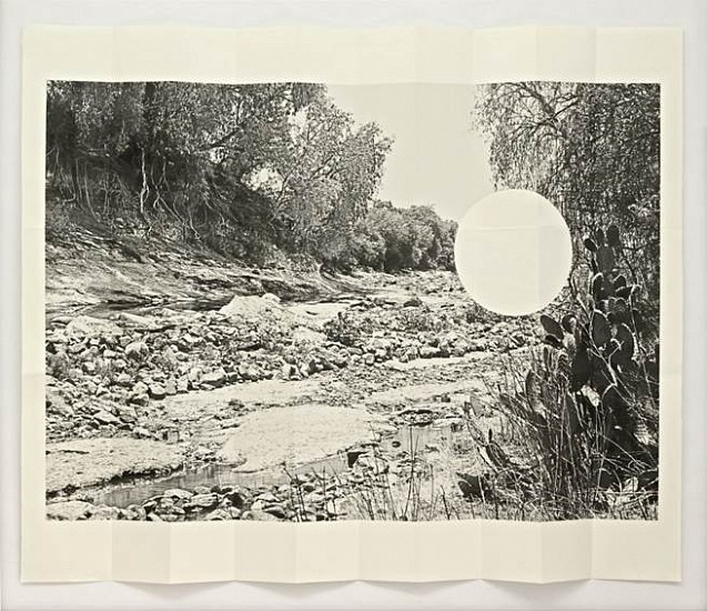 Virginia Colwell, Rio Tula Document no.1 2013, Map-folded digital print and collage