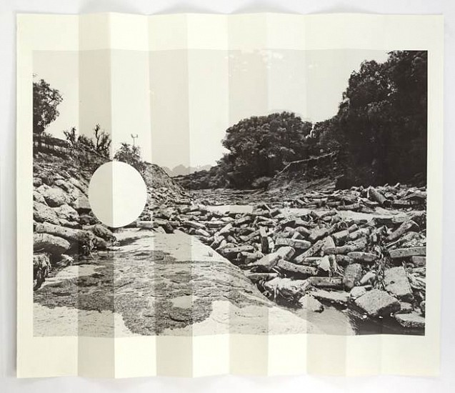 Virginia Colwell, Rio Tula Document no.2 2013, Map-folded digital print and collage