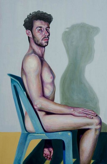 Stas Korolov, Self-Portrait 2014, oil on wood
