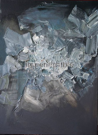 Manuel Soliven, Impenetrable 2011, texture gel and oil on canvas