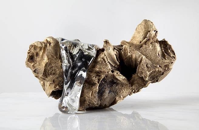 Virginia Poundstone, Flower Arrangement #2 2013, Cast bronze and hot poured glass
