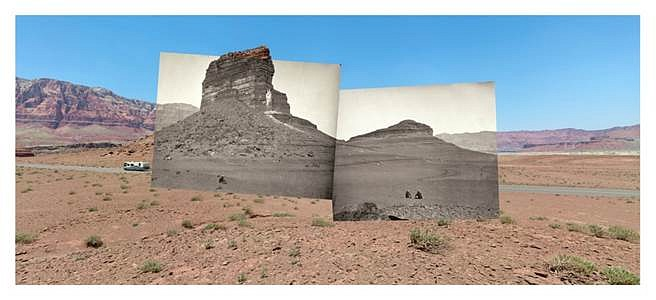 Mark Klett and Byron Wolfe, Rock formations on the road to Lee's Ferry, AZ 2008, Inkjet photograph