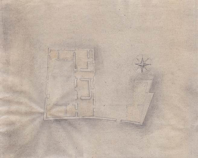 Naho Taruishi, House of Galileo Galilei 2014, graphite and colored pencil on Gampi paper