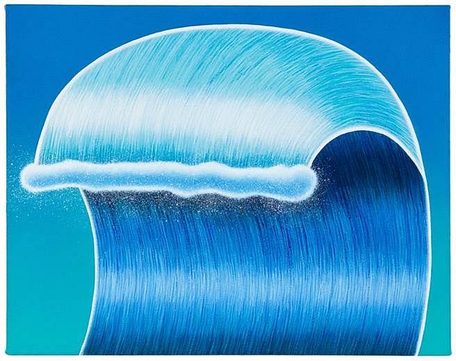Matthew F. Fisher, Silver Boy Blue 2014, acrylic on canvas