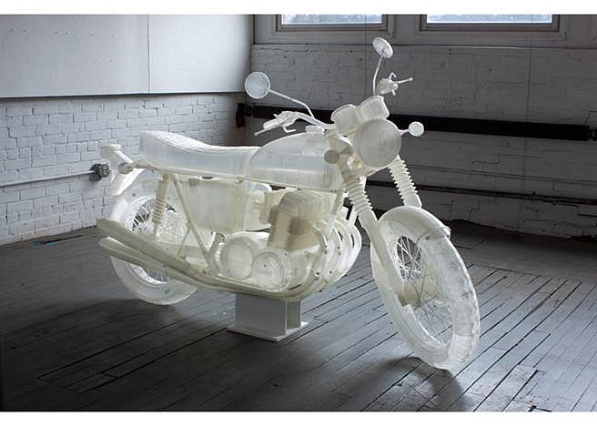 Jonathan Brand, Untitled Motorcycle 2014, Natural PLA 3D Prints