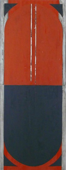 Mark Brown, October Red I 2013, oil on panels