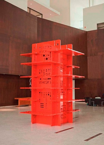 Mario Navarro, House of cards IV 2006, wood, iron and epoxic paint