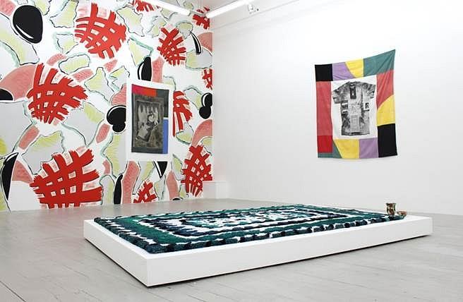 Christian Newby, Orangina Clock 2013, screenprint and dye on cotton