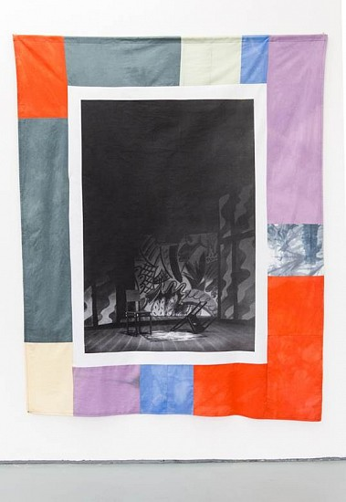 Christian Newby, Party Time 2 2014, screenprint and dye on cotton