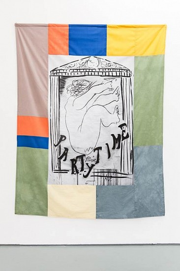 Christian Newby, Party Time 2014, screenprint and dye on cotton