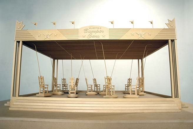 Richard Humann, Electric Bumper Cars 2008, basswood
