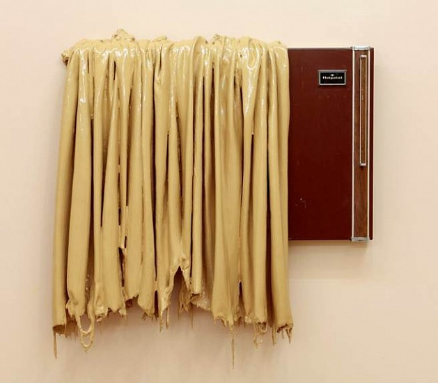 Robert Melee, Flesh Drape Door 2011, enamel and fiberglas on metalMobile