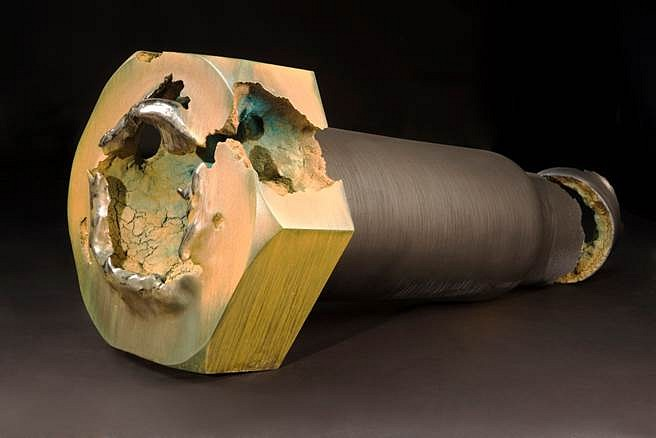 Steven Montgomery, Structural Bolt/Core Corrosion 2008, painted, glazed ceramic
