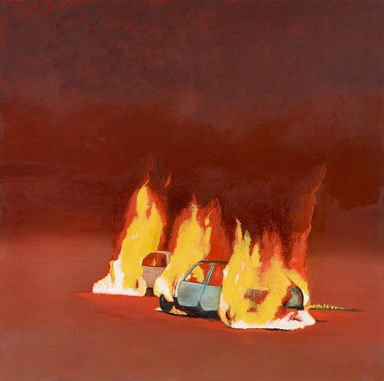 Mimmo Catania, Hit & Run 2015, oil on canvas