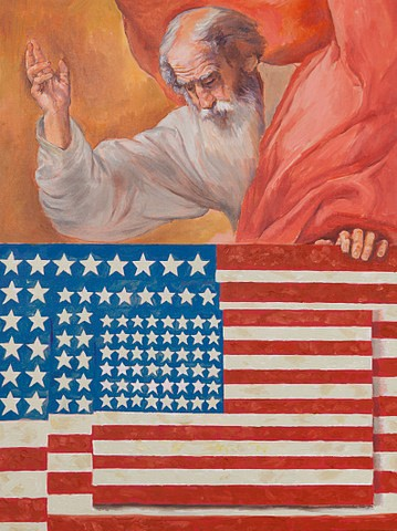 Russell Connor, God Bless America (Ribera/Johns) 2011, oil on canvas
