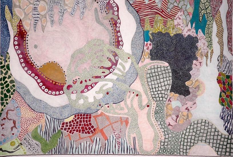 Jonathan Hammer, Unagi Eva 2012, gouache, watercolor, graphite on paper