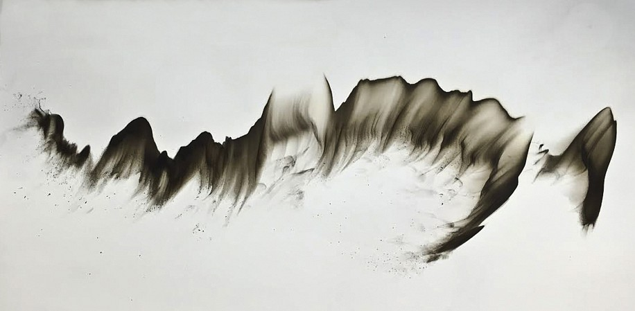 Dennis Lee Mitchell, Untitled 21 2015, smoke directly applied to paper
