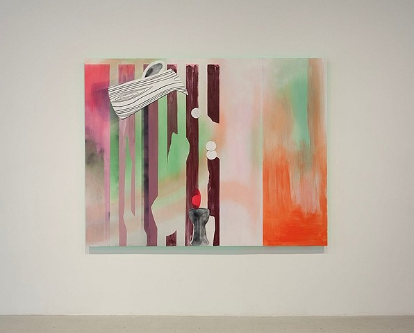 Sonia Almeida, Silver Screen 2013, oil on marine plywood and green LEDs