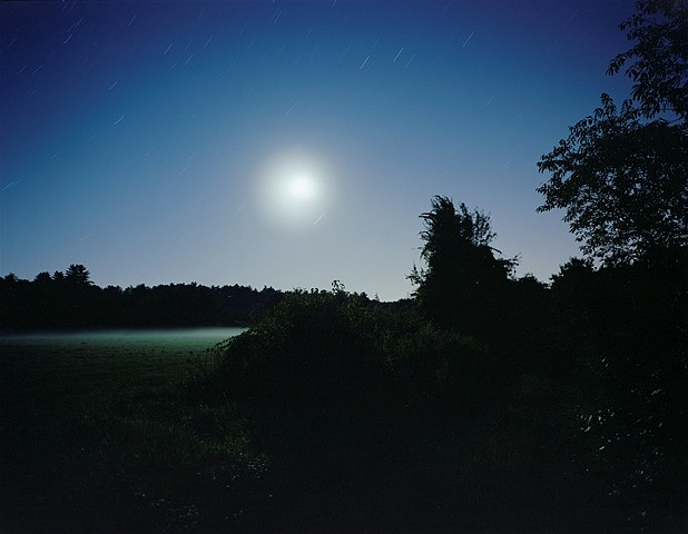 Barbara Bosworth, Nocturnal meadow, moonrise 2005, archival inkjet
